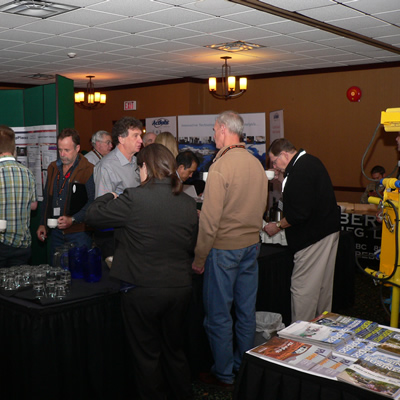 Industry professionals gathered at the conference.