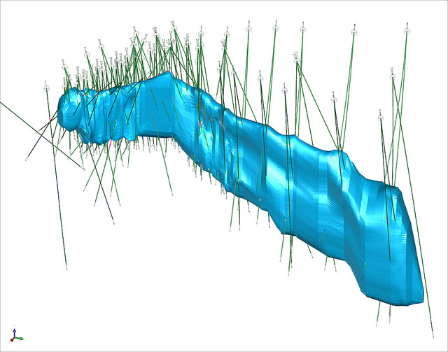 3D Conceptual Geological Model of the Kelvin Pipe-like Body, Kennady North Project, Kennady Diamonds Inc.