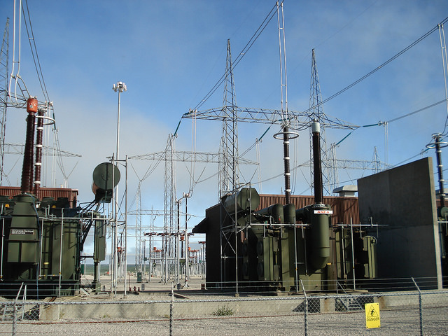 The transformers at Robert-Bourassa generating station (LG-2) in northern Quebec