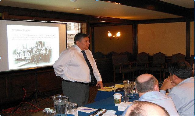 Bob Joseph presents a training in Prince George, B.C.