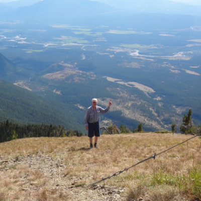 Paul Ransom points to Lakit Lookout, near Fort Steele, which could be the next big East Kootenay mine.