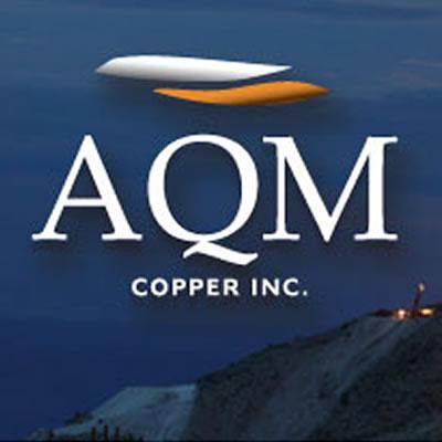 Graphic of AQM Copper Inc. logo.