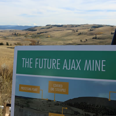 A sign for the proposed Ajax Project.