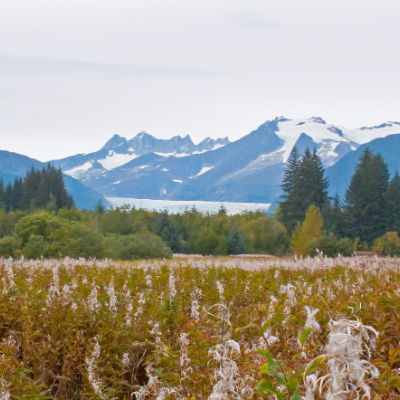 Mountain range in Alaska