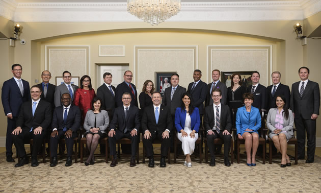 Alberta's 18th Premier, Jason Kenney, and his cabinet were sworn in at Government House in Edmonton on April 30.