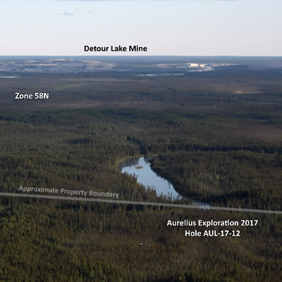 Photo from the air of Hole AUL-17-12.