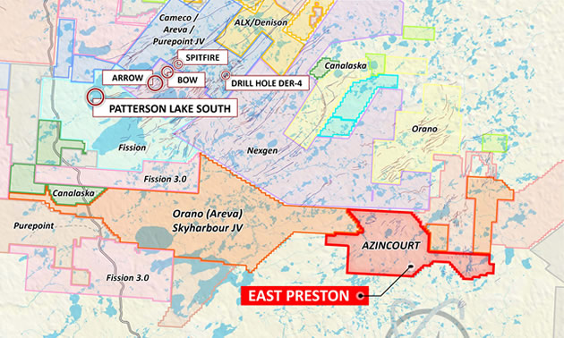 Map showing project location – Western Athabasca Basin, Saskatchewan, Canada