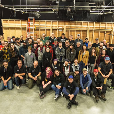 BC student carpenters from the TV and Film Crew Training program at North Island College are ready for their debut after ITA training.