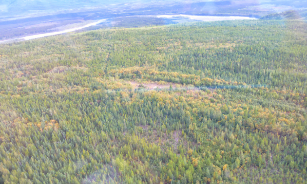 An aerial shot of the Clear Lake property.