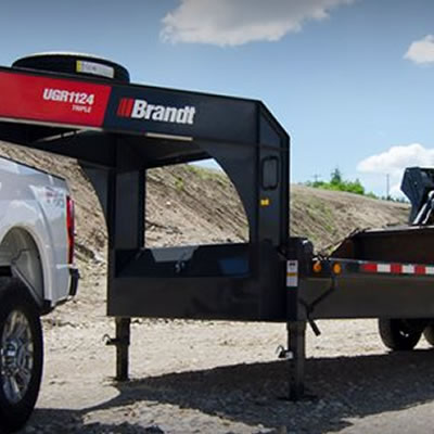 Picture of Brandt utility trailers.