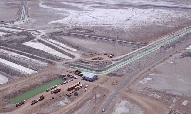 Aerial view of the Bristol Dry Lake Lithium Project.