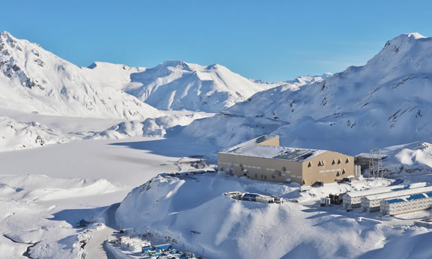 View of Brucejack Mine in winter.