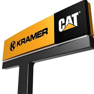 Picture of Kramer/CAT dealership sign.