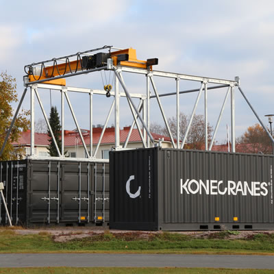 Konecranes CXT Explorer delivers factory-level lifting at remote or temporary locations.