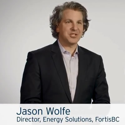 Pictures of Jason Wolfe, director of energy solutions at Fortis BC and Jaeson Cardiff, CEO of CleanO2