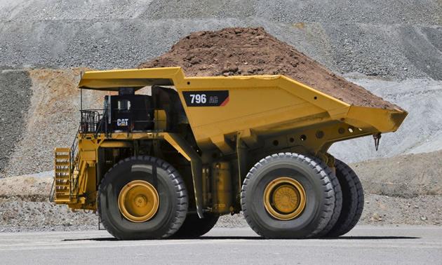 Cat 796 AC mining truck.