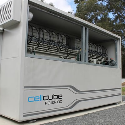 This file photo shows a CellCube Vanadium Redox Flow Battery, similar to one installed at the U of Calgary recently.