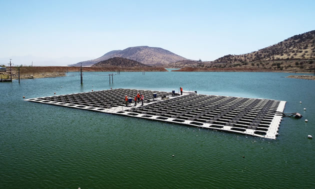Los Bronces floating PV plant using Hydrelio® technology, Chile.