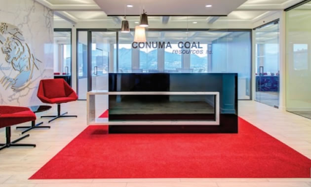 Vancouver-based design-build company Fusion Projects created this snazzy and modern office space for Conuma Coal Resource Ltd.