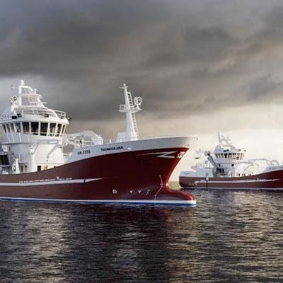 Norwegian fishing vessels.