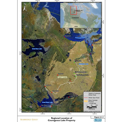Map of Courageous Lake property.