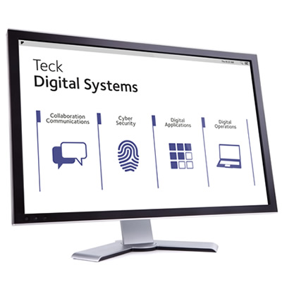 Teck digital systems program shown on computer screen.