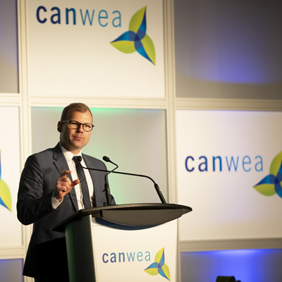 The Honourable Dustin Duncan, Saskatchewan's Minister of Environment and Minister Responsible for SaskPower, at CanWEA 2018.