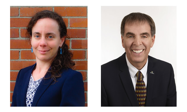 Headshots of the co-authors Geneviève Gauthier and Pierre Langlois