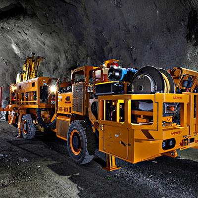 Mining machine.