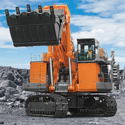 The Hitachi EX3600-7 excavator.
