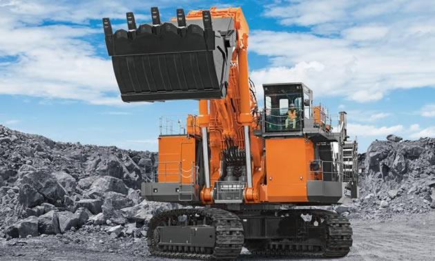 The Hitachi EX3600-7 excavator.