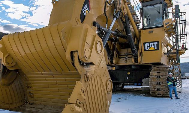 Large construction equipment.