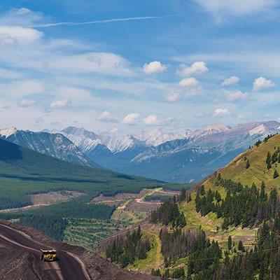 View of Teck's Elk Valley Mine.