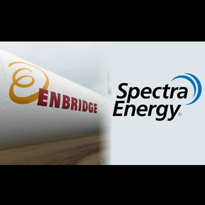 Logos of Enbridge Inc. and Spectra Energy Partners.