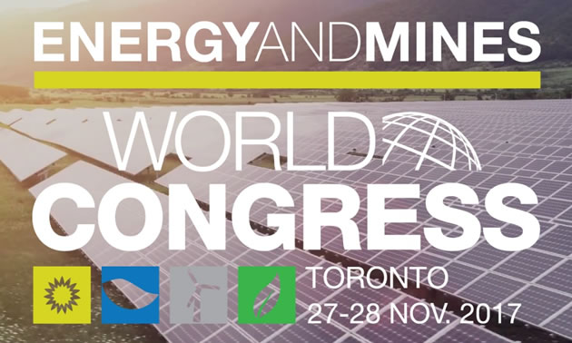 The Energy and Mines World Congress will be held November 27-28th in Toronto, ON.