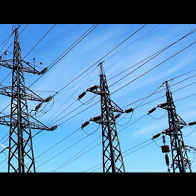 Picture of transmission towers.