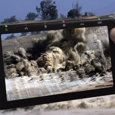 Fastec Imaging's TS5 High-Speed Camera's slow-motion footage provides optimal analyzation of blasting operations.
