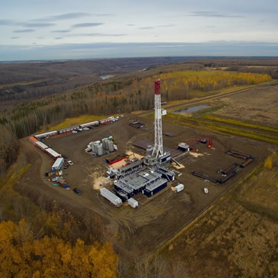 Filterboxx Drill Camp Combo, set up at a Blackbird Energy site.