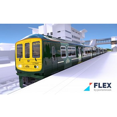 Artist's rendition of a HydroFLEX train.