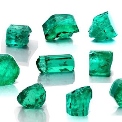 Samples selected from the Coscuez Emerald Mine.