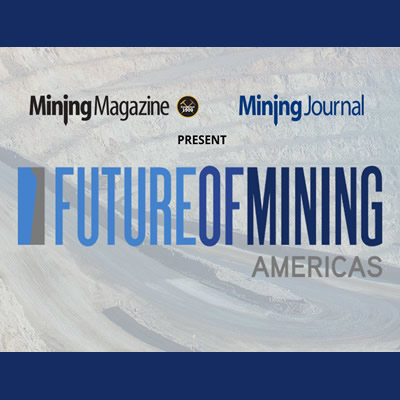 Logo for the Future of Mining America conference.