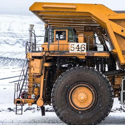 Photo of heavy-duty mining truck.