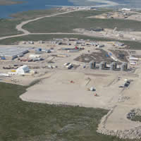 Aerial view of the Gahcho Kué Diamond Project in the NWT projected to open in 2016