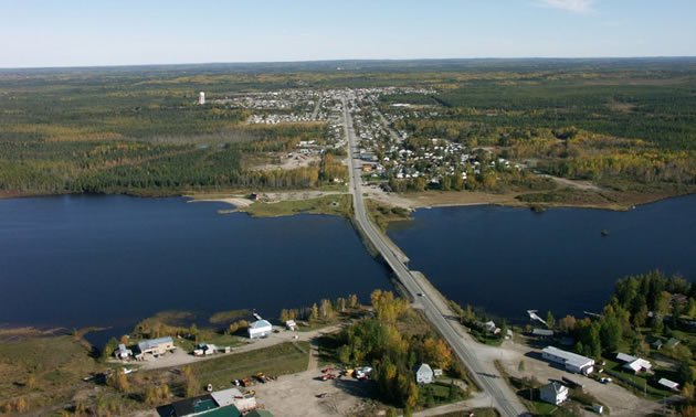 An aerial view of the Geraldton-Beardmore Greenstone Belt in Ontario, Canada.