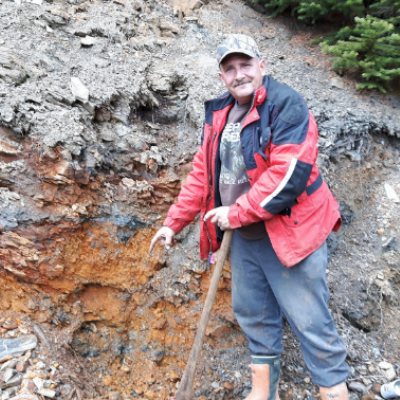 "Darrel Davis has discovered a ""staggering"" gold deposit near Trout Lake, B.C."