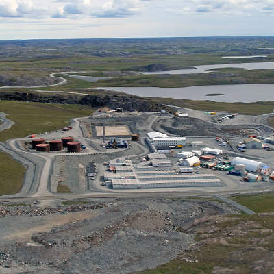 An aerial view of the Hope Bay mine, located in Nunavut, Canada.