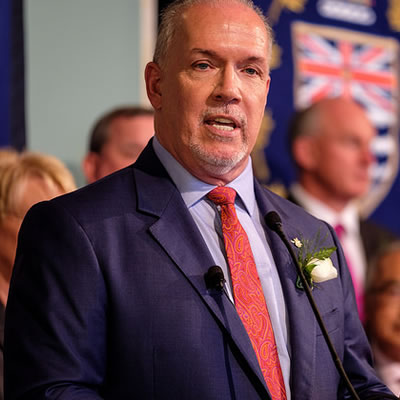 John Horgan, Premier of British Columbia.