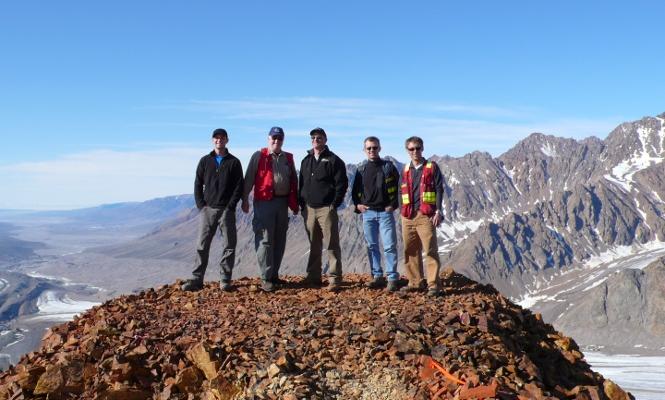 Five men on a mountaintop