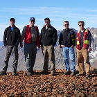Five men on a mountaintop