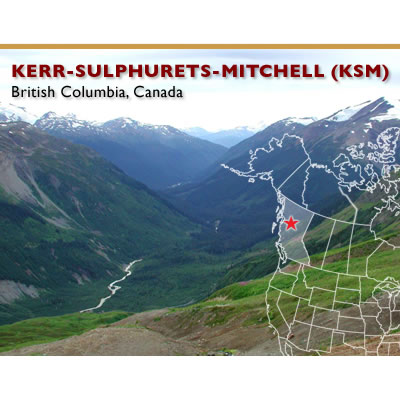 View of the KSM Project, near Stewart, B.C.